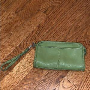 Leather wristlet by NINE WEST